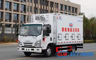 国六五十铃雏禽运输车4米2图片