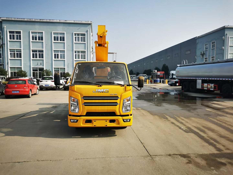 江铃国六21米蓝牌高空作业车配置图片,报价和厂家参数