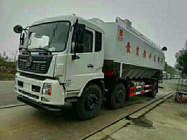 安徽蚌埠天锦前四后四15吨拉猪饲料车价格,厂长笔记53