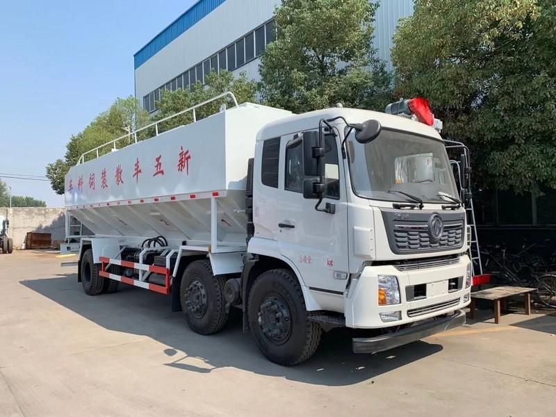 东风天锦小三轴30方15吨散装饲料运输车配置_图片