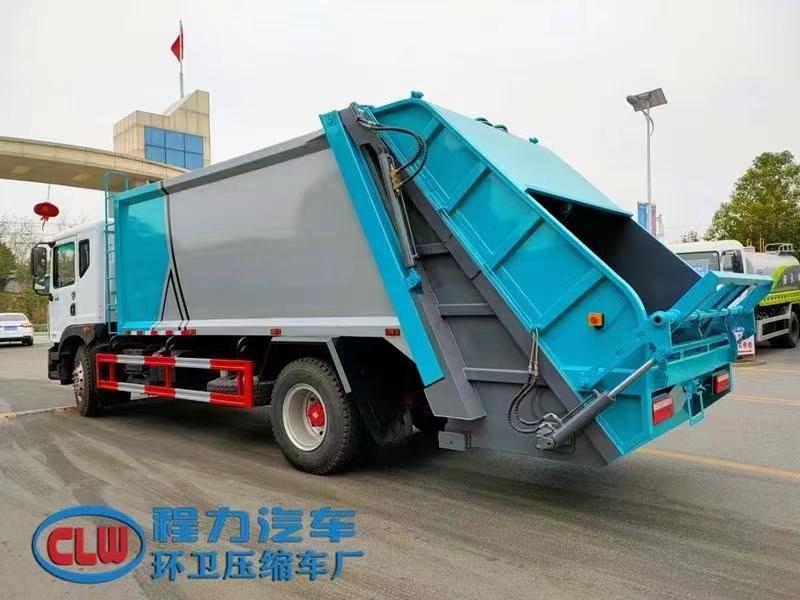 12方东风压缩垃圾车大多利卡挂桶垃圾运输车厂家图片报价图片