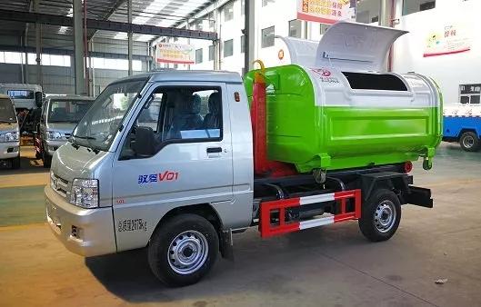 福田小型勾臂垃圾车多少钱一辆图片