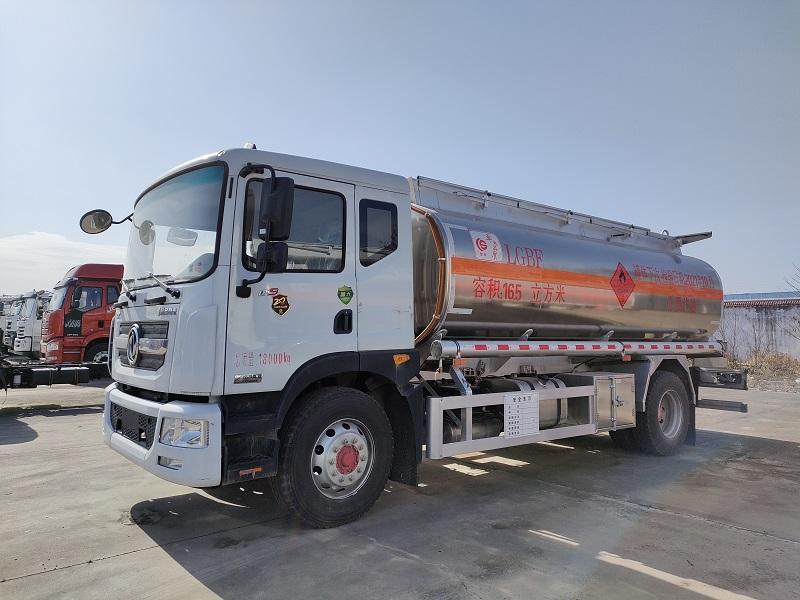 国六D9铝合金油罐车 16.5方单桥油罐车 楚胜14吨加油车