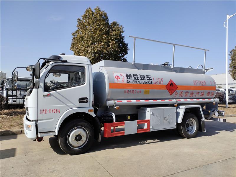 CSC5110GYY5A型运油车 楚胜牌8吨油罐车 东风8.09方加油车