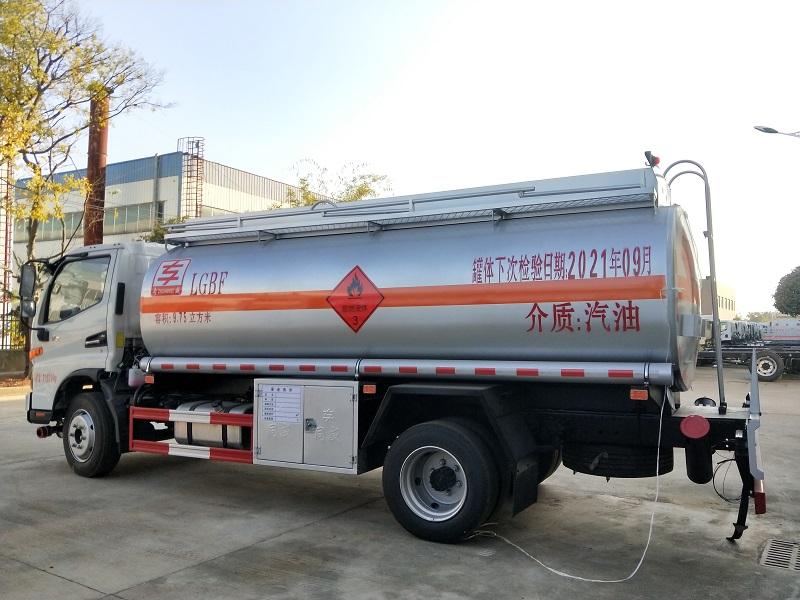 国六江淮9吨油罐车配置 高端骏铃V7国六9.75方油罐车视频视频