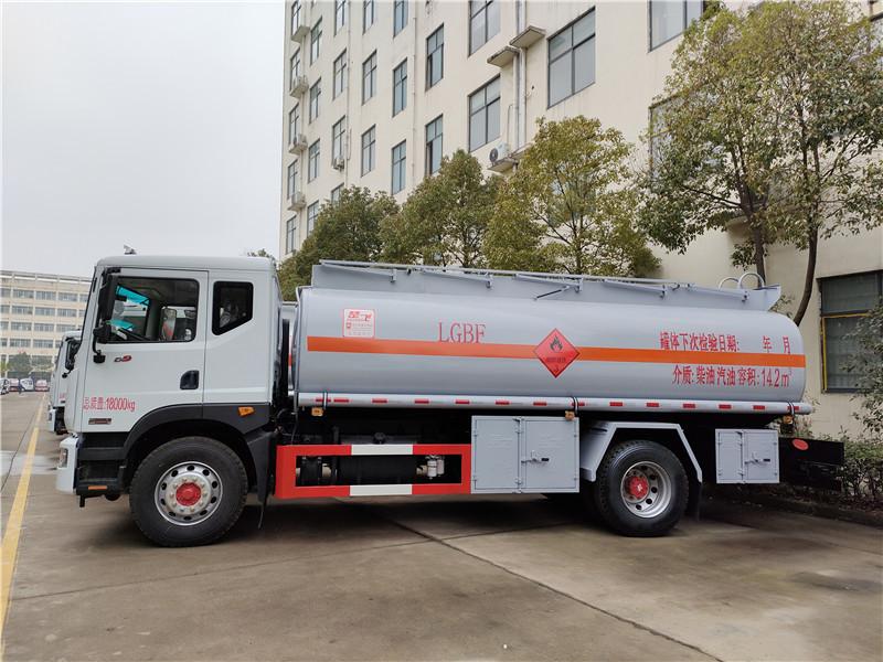 D9油罐车_东风大多利卡14.2方运油车_15吨油罐车 视频视频