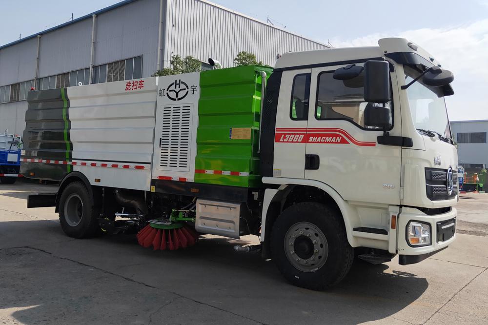 陕汽德龙18吨洗扫车图片