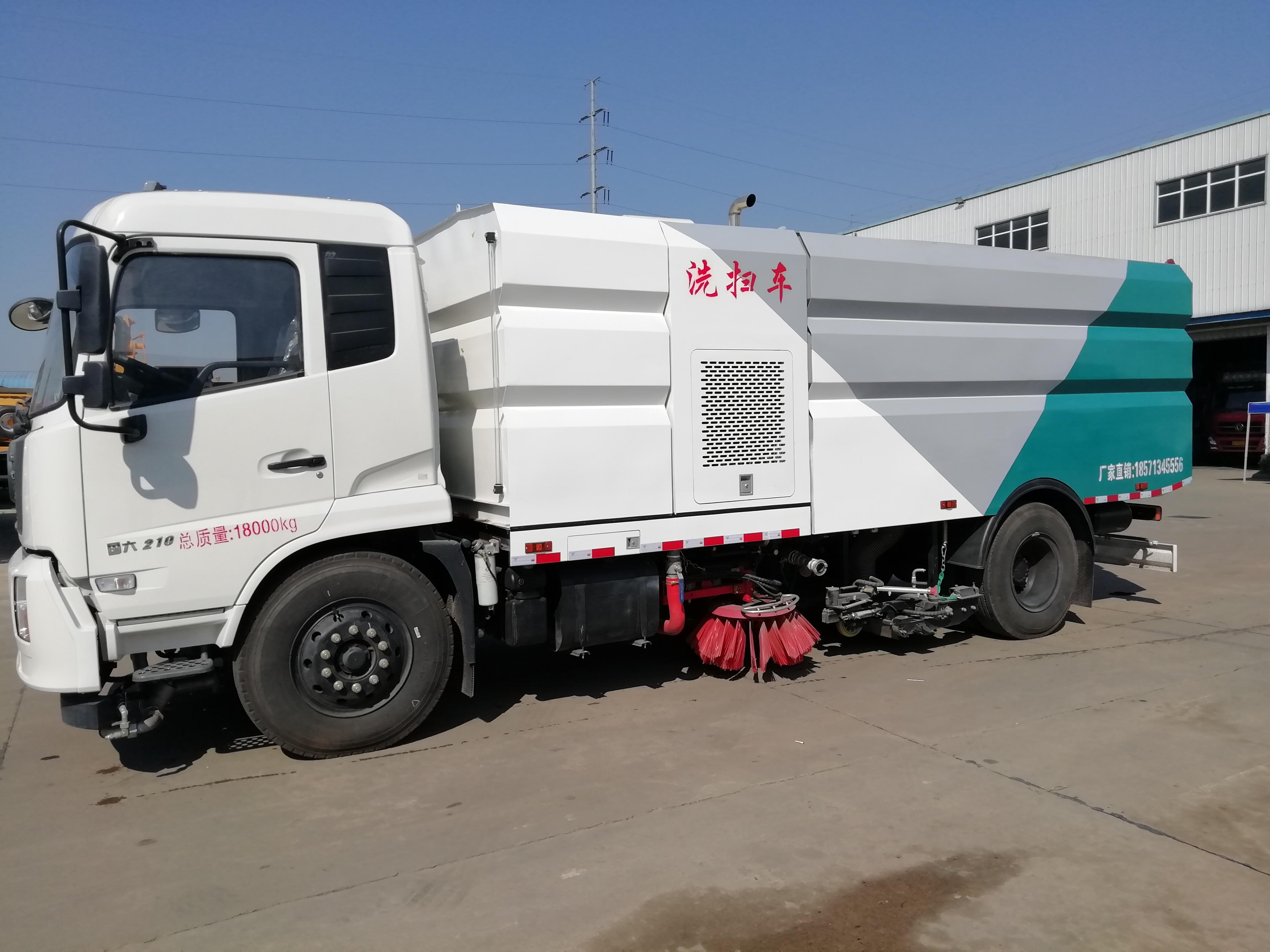 东风天锦18吨洗扫车图片