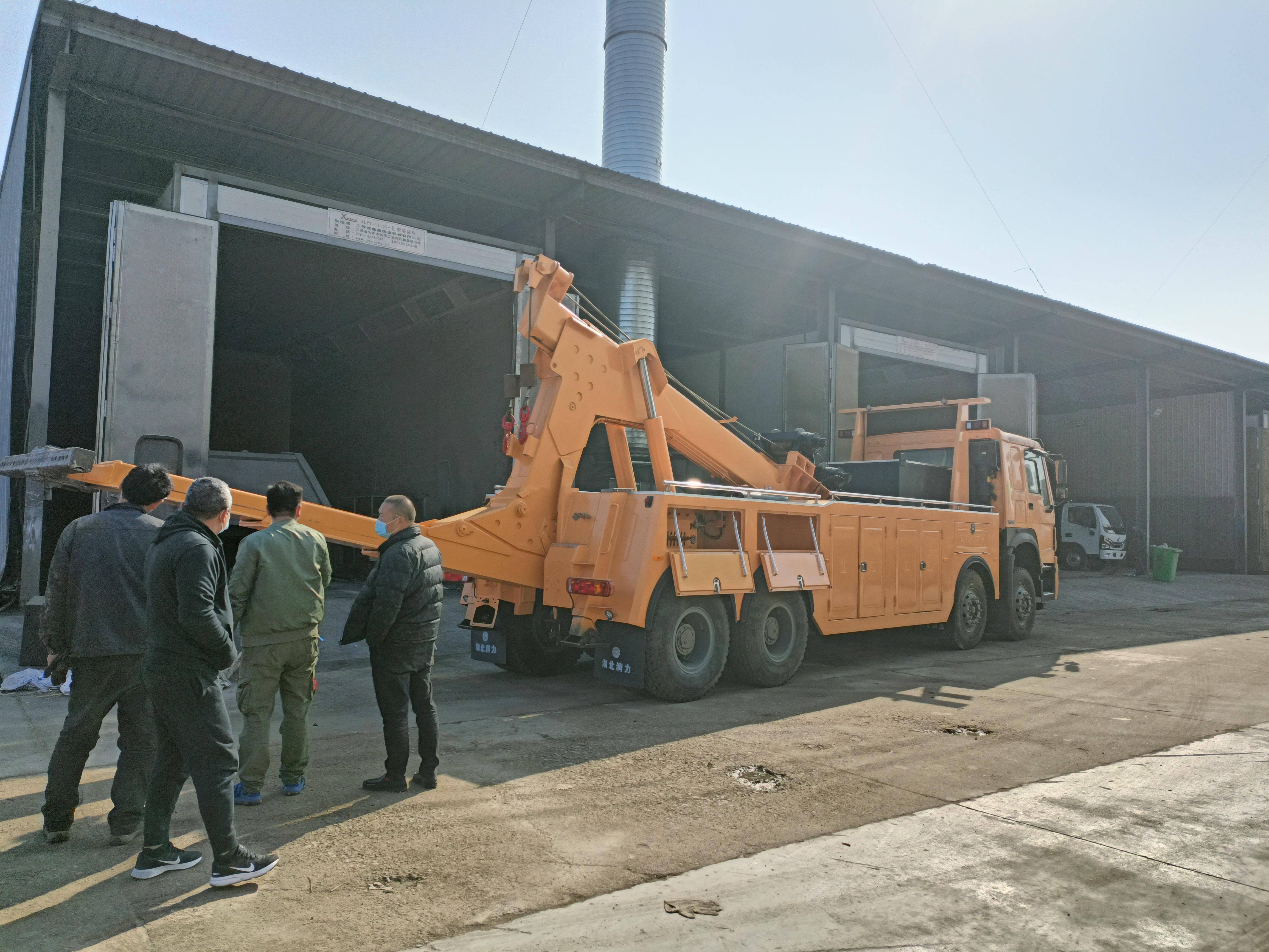 25吨重汽豪沃前四后八清障车价格厂家国五380马力现车图片图片