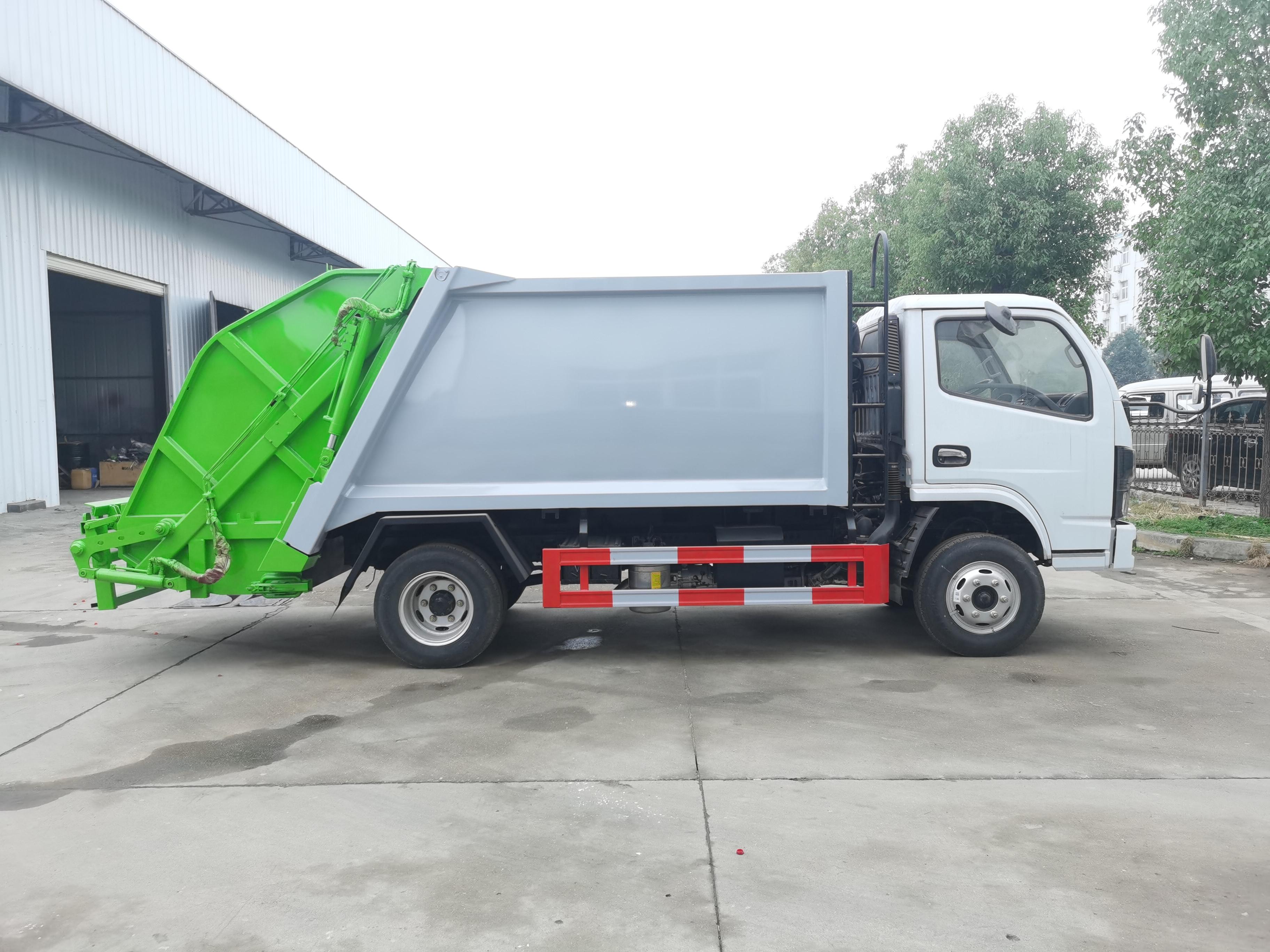 国六东风6方压缩垃圾车视频