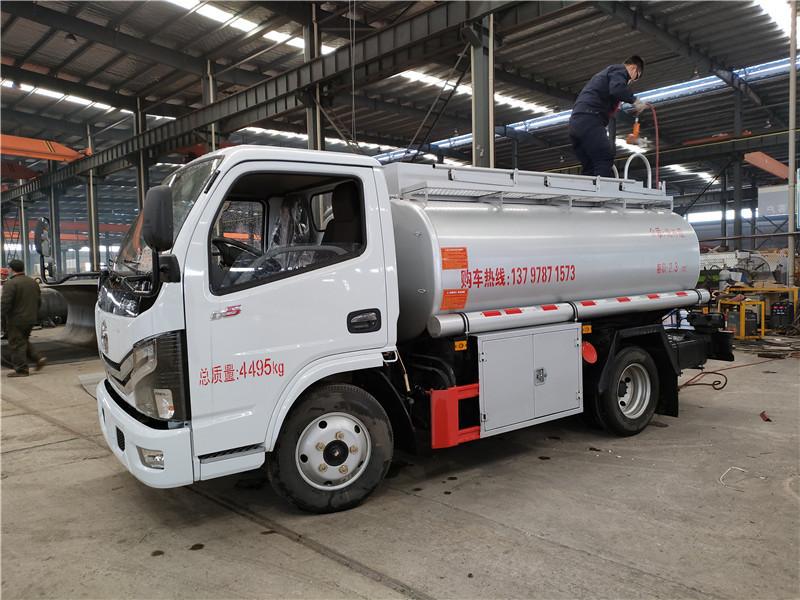 普货4吨净水剂车 东风多利卡2.3方供液车厂家批发上户无忧视频