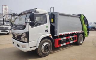 国六东风6方压缩式垃圾车图片