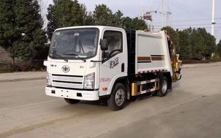 国六解放4方压缩式垃圾车图片