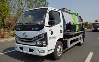国六新款东风5方餐厨垃圾车图片