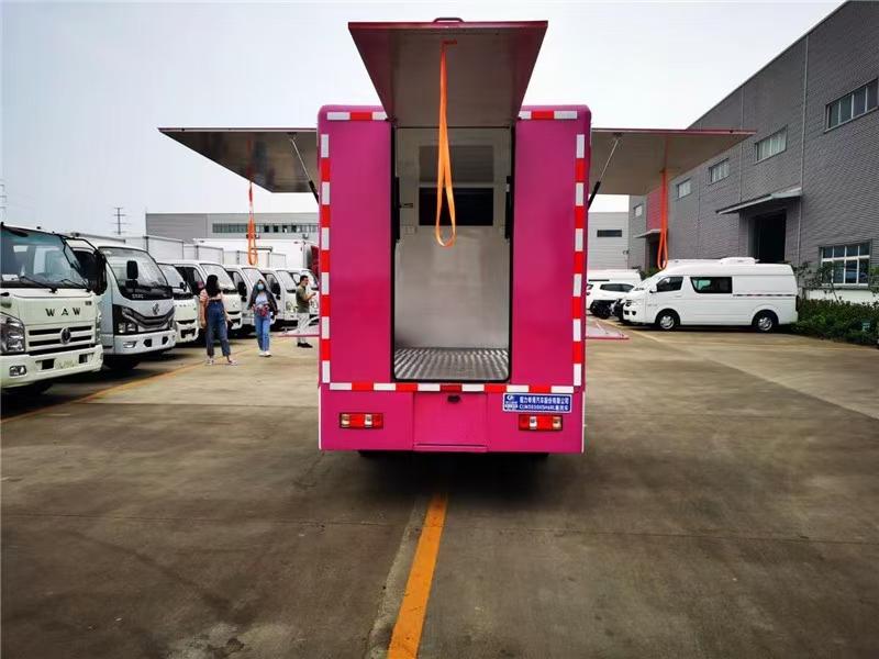 国六开瑞双排售货车图片