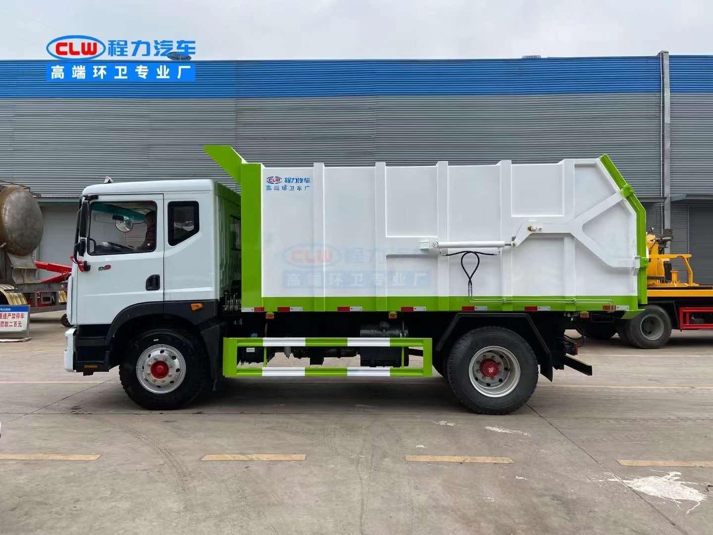 国六d9对接式压缩垃圾车