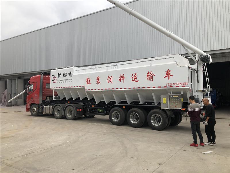 30吨半挂饲料车结构原理及特点_生产厂家价格