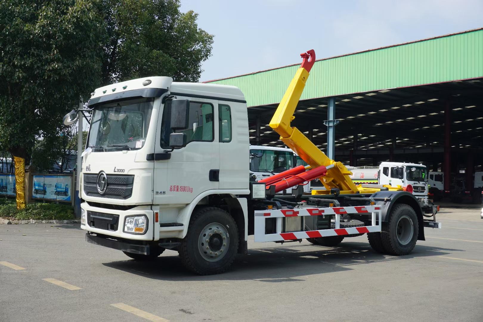 国六陕汽德龙20吨勾臂垃圾车