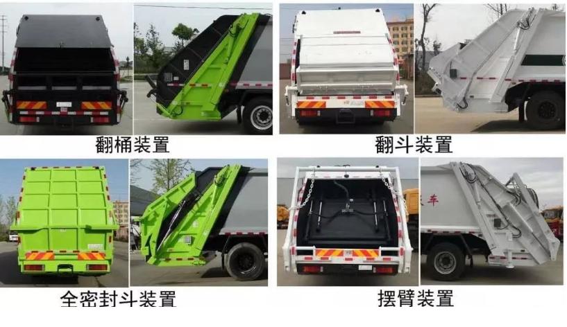 壓縮垃圾車尾部功能配置介紹高端環衛車廠家價格圖片