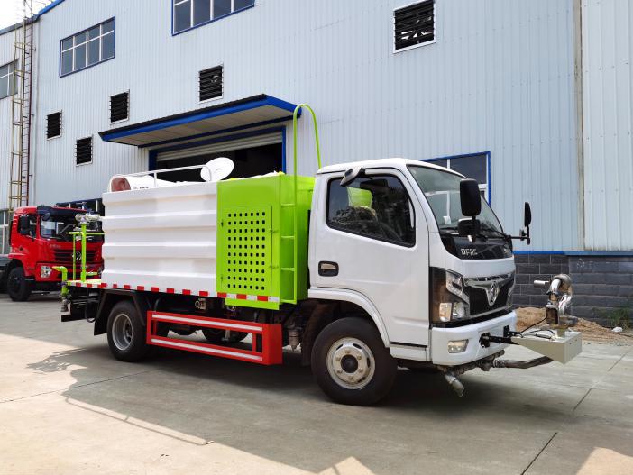 国六5方东风抑尘车价格加装前置水炮图片30米雾炮车厂家