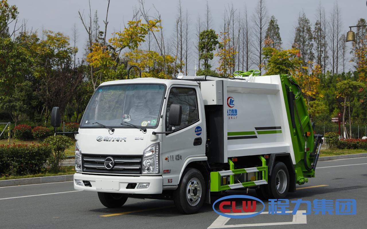 国六凯马3方蓝牌压缩垃圾车|小型压缩垃圾车|C照可开垃圾车