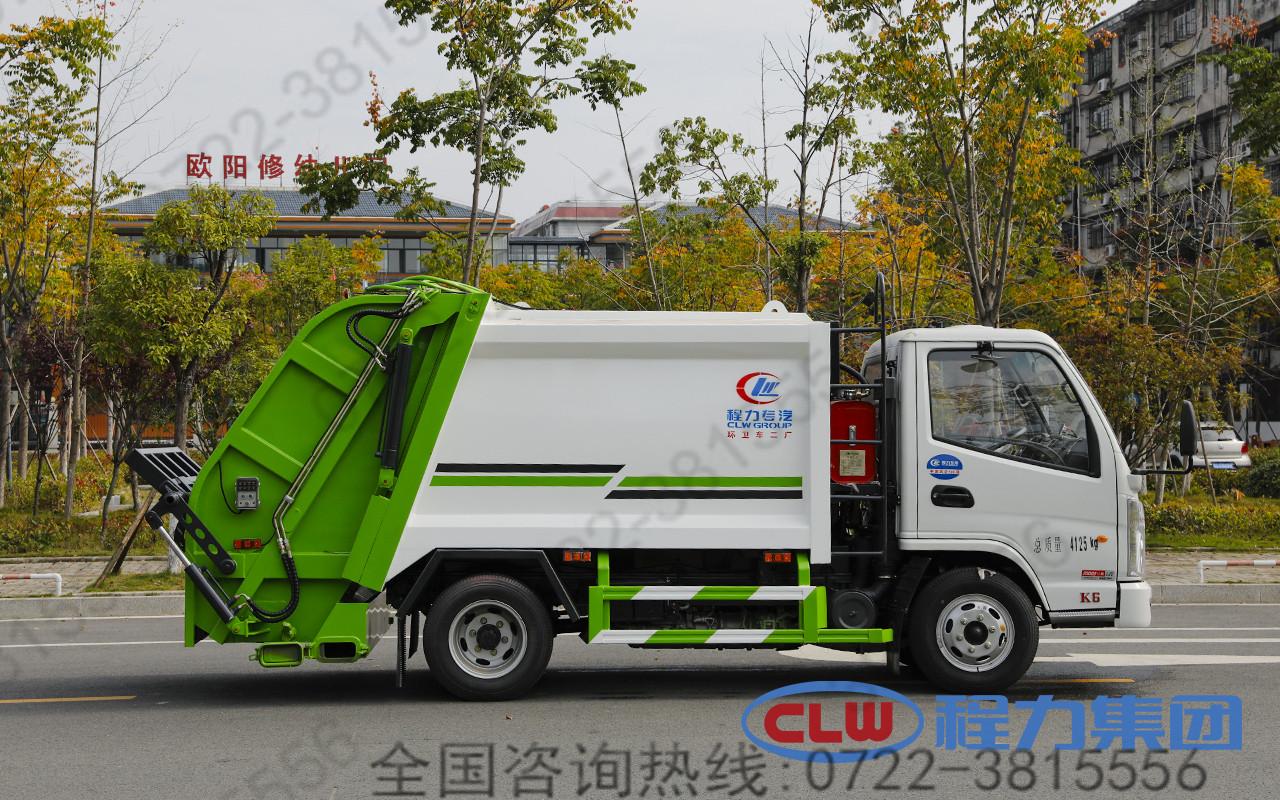 国六凯马3方蓝牌压缩垃圾车 小型压缩垃圾车 C照可开垃圾车