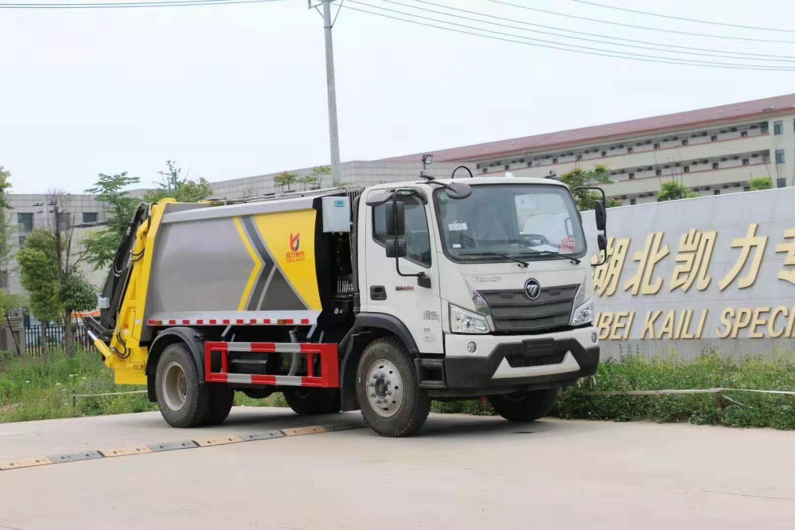 福田后挂桶压缩垃圾车8万起图片
