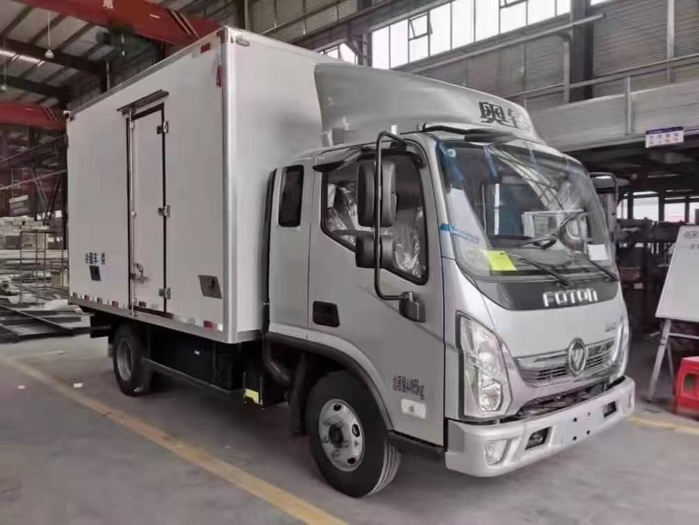 國六福田奧鈴速運排半冷藏車藍牌3米7???????圖片