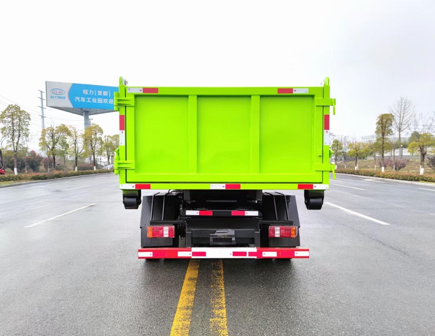 国六凯马蓝牌7吨勾臂垃圾车图片