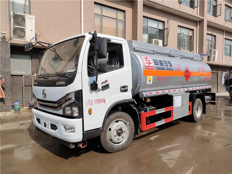 东风多利卡国六8吨油罐车  同威8吨油罐车厂家批发价格视频