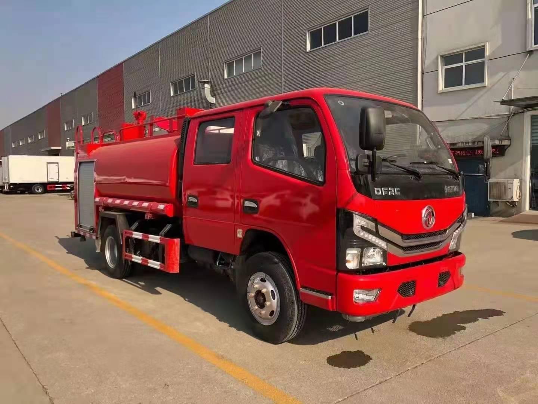 4立方雙排消防灑水車