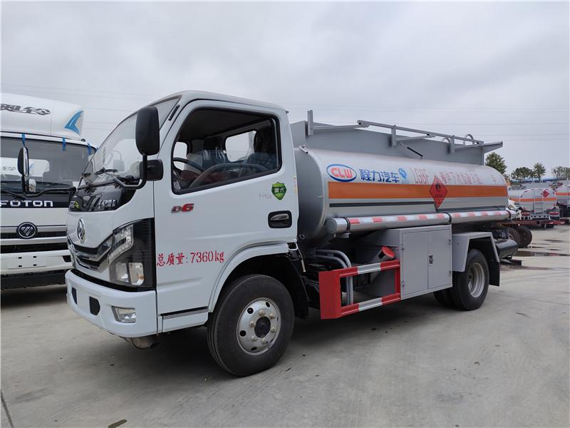 國六5噸油罐車手續齊全 危險品柴汽油5噸罐式運輸車 視頻視頻