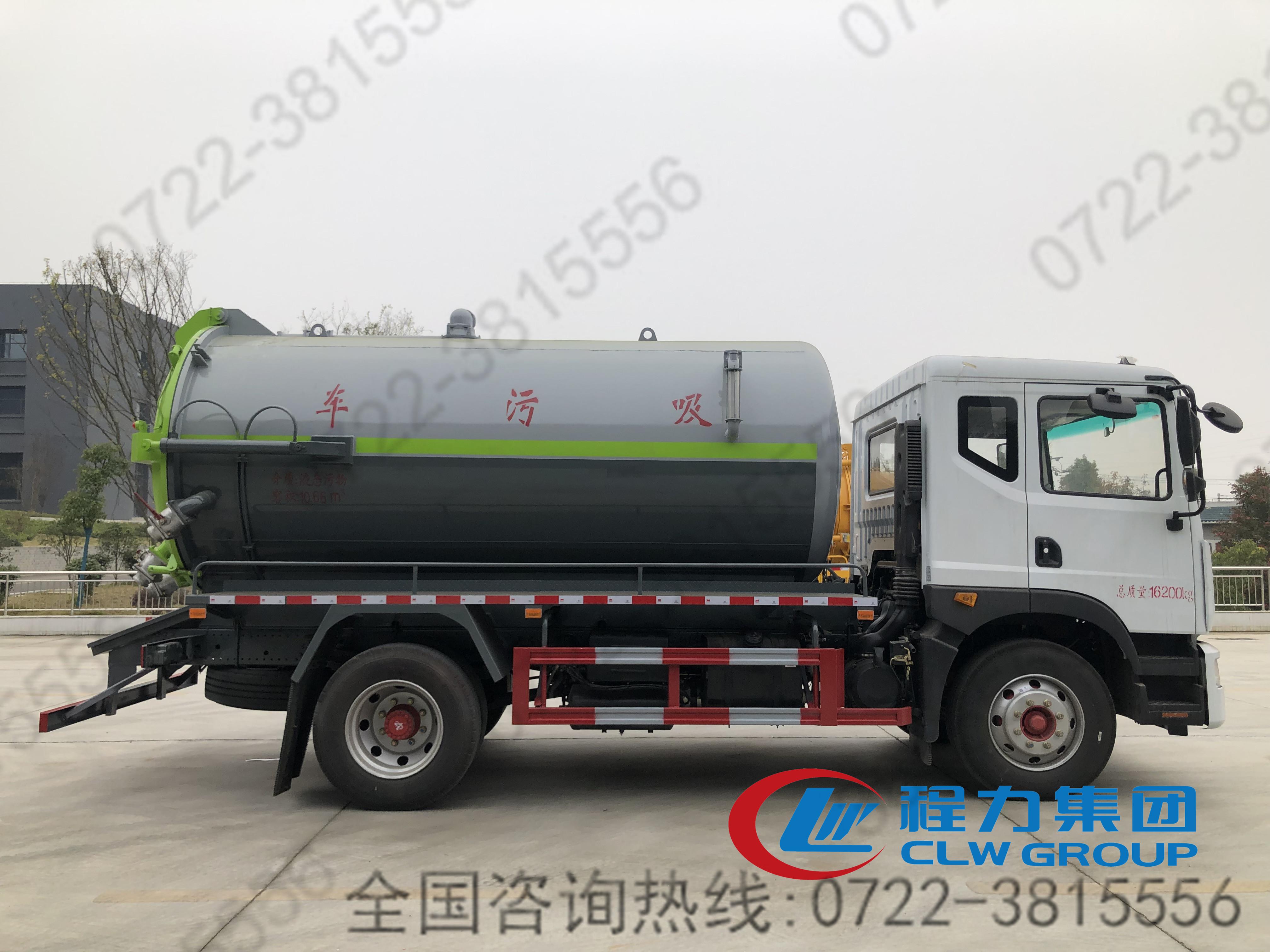国六东风D9型13.2立方吸污车
