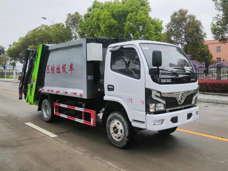 國六東風6方壓縮垃圾車圖片