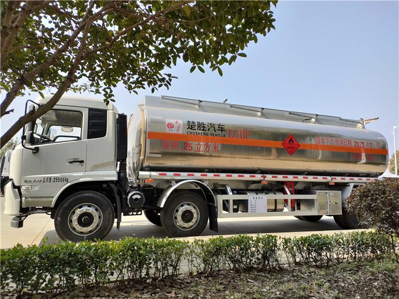 國六東風天錦小三軸25方鋁合金運油車圖片