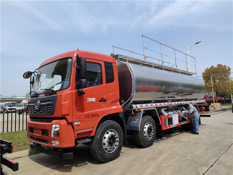 20吨供液车 东风天锦小三轴新款VR红色24方普货油罐车