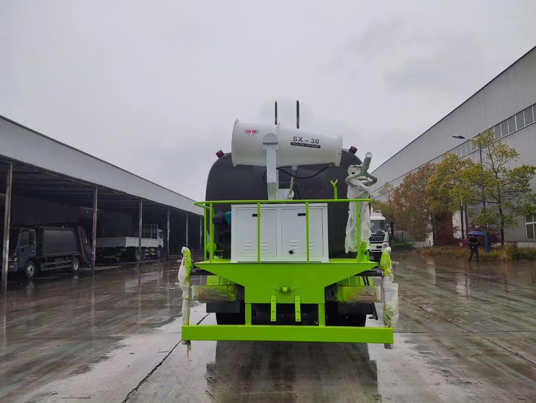 抑塵車后平臺選裝60米的霧炮視頻