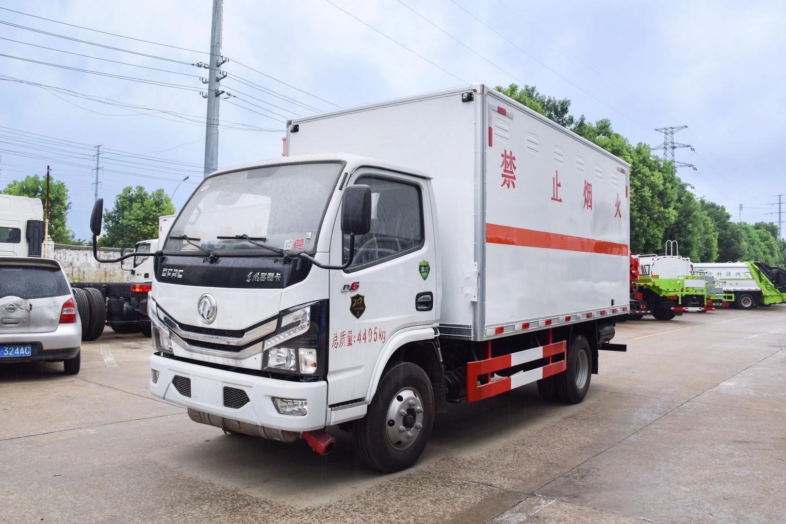 国六 东风D6蓝牌危险品厢式车图片