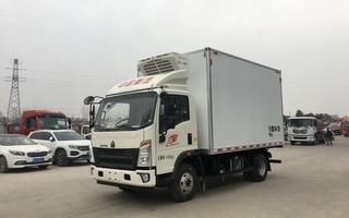 国六重汽豪沃4.2米货箱蓝牌冷藏车图片