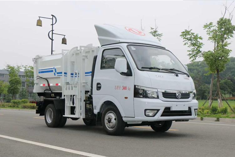 蓝牌3方东风逸途挂桶垃圾车多少钱一辆?图片
