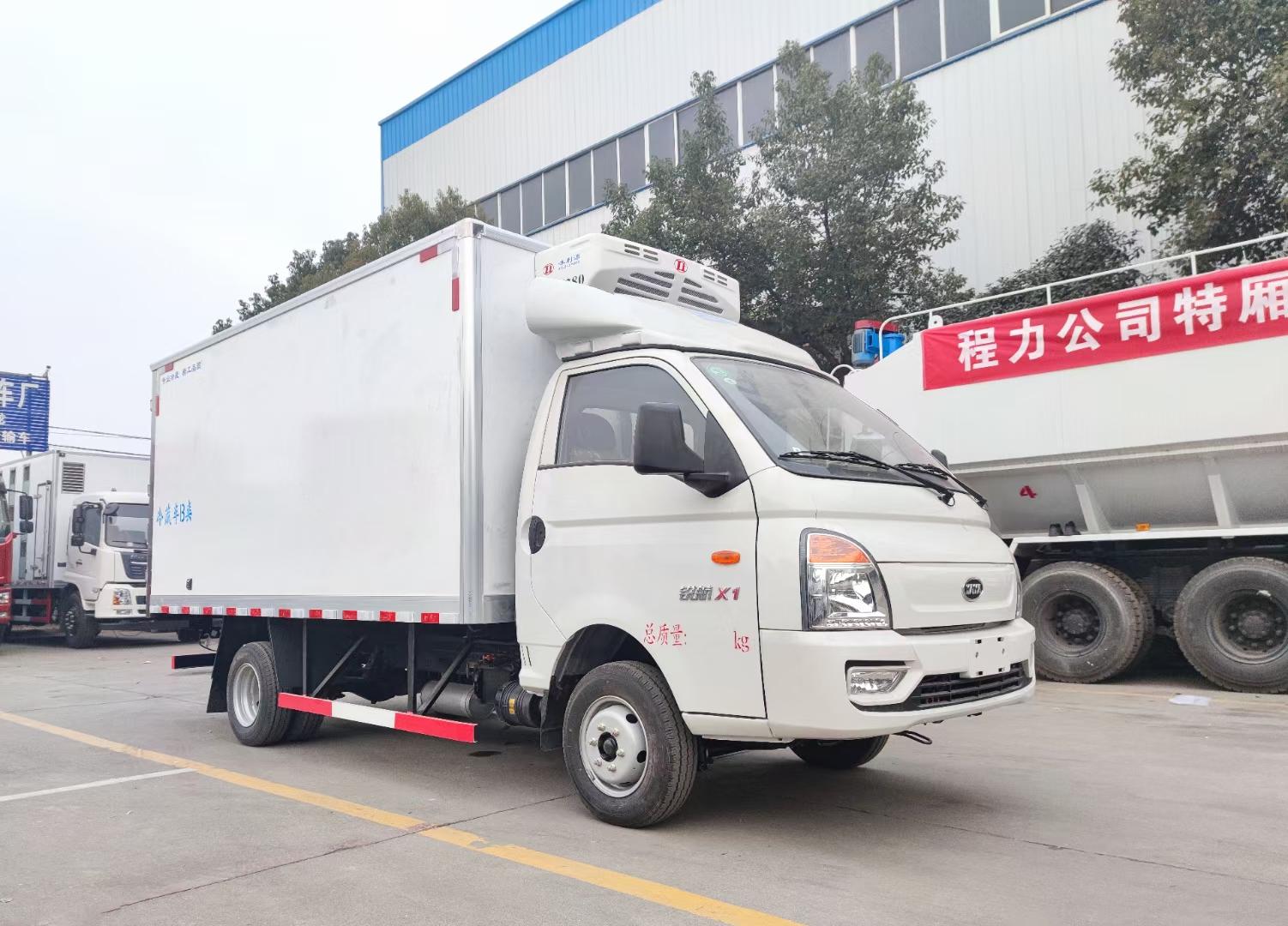 凯马国六蓝牌小型厢式鲜奶冷冻食品配送车冷藏车图片