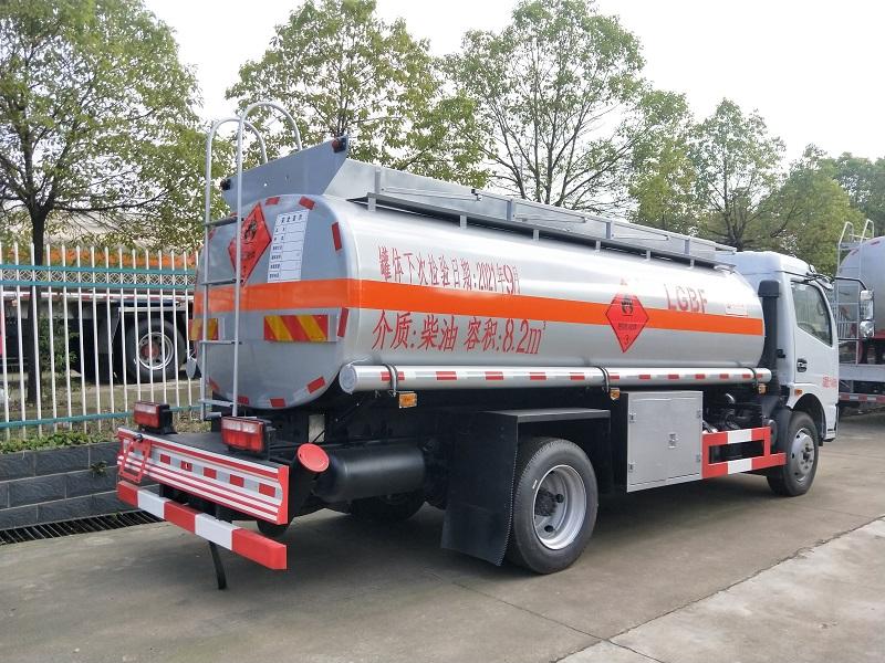 国五国六东风8吨油罐车厂家现车 楚飞牌8吨加油车包上户视频