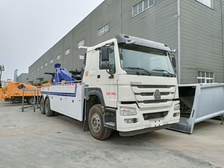 20噸重汽豪沃后八輪拖吊一體救援拖車國五340馬力十檔變速箱圖片