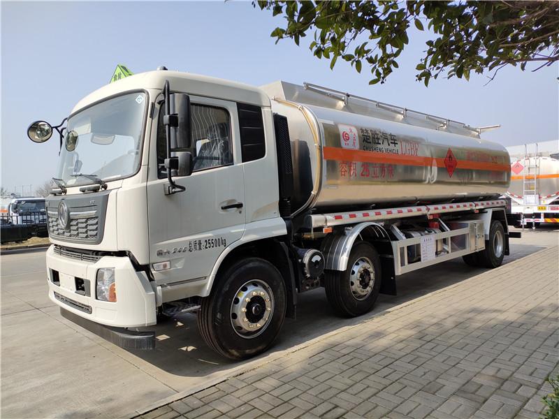 黄牌国六东风天锦小三轴25方铝合金运油车 20吨铝合金运油车厂家订制