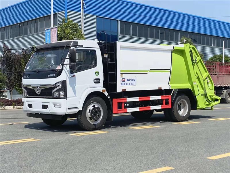 国六东风8方压缩垃圾车价格 生产厂家