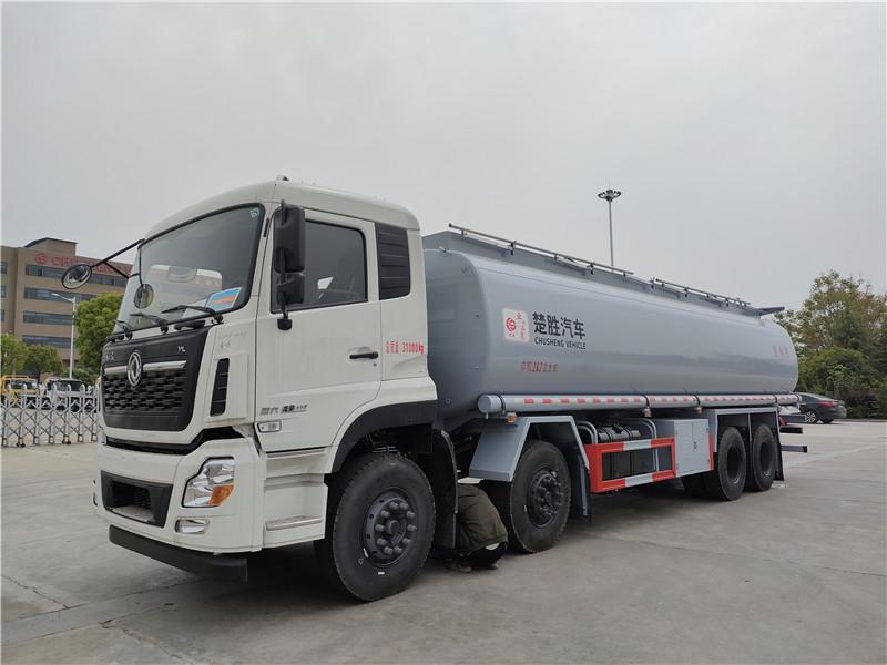国六东风天龙前四后八26.7方供液车 楚胜牌20吨普货油罐车图片