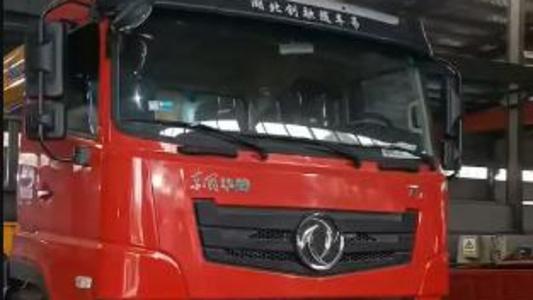 东风华神T7前四后八 徐工14吨G型五节臂, 货箱正在制作中马上整车完工。视频
