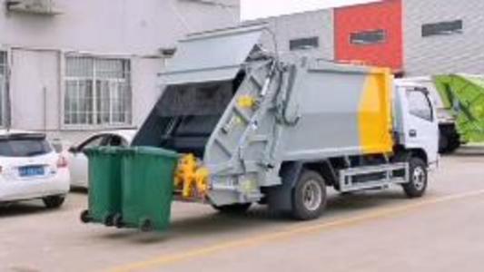 壓縮垃圾車操作視頻視頻