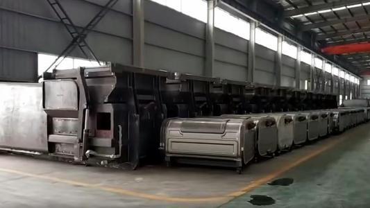 環衛勾臂垃圾車配套3立方垃圾箱~18立方垃圾箱視頻視頻