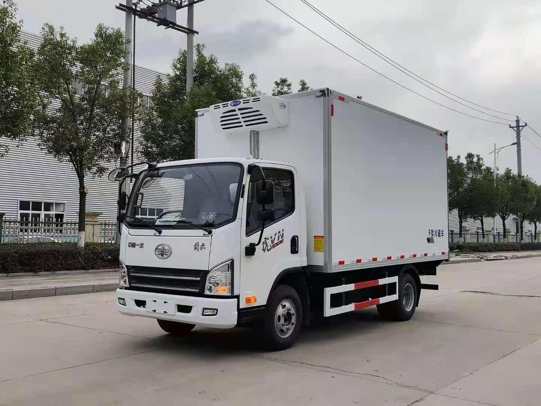 解放虎VN 國六 濰柴130馬力 4.13米冷藏車